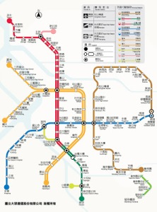 Map of Taipei's MRT