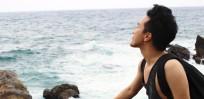 Enjoying the largest expanse of sea at Nanya, Northeastern Taiwan